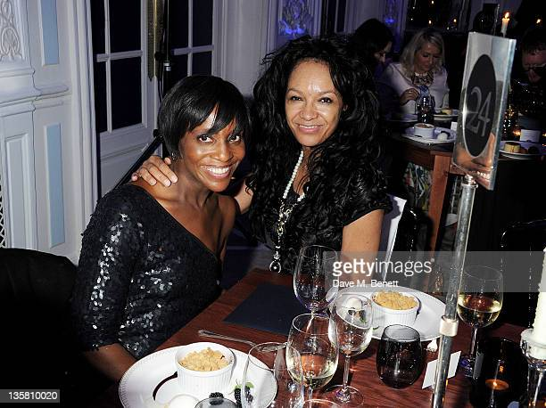 Brenda Emmanus and Kanya King attend a Dinner at the British Fashion Awards 2011 at The Savoy Hotel on November 28, 2011 in London, England.