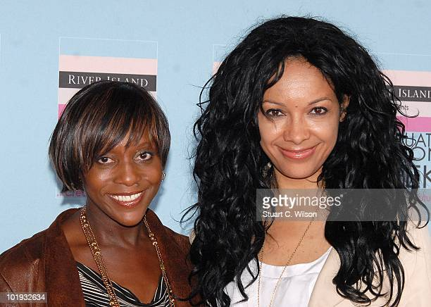Brenda Emmanus and Kanya King attend the Graduate Fashion Week Gala Show at Earls Court on June 9, 2010 in London, England.