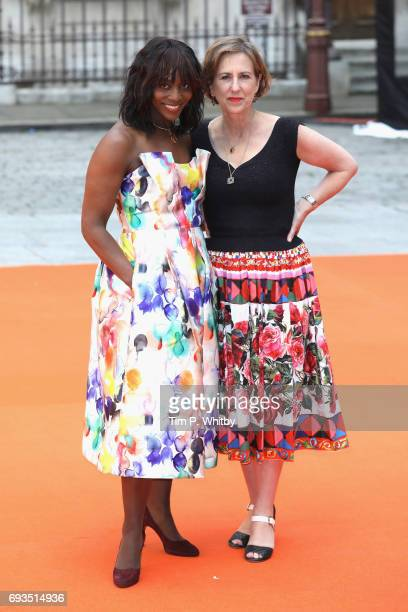 Brenda Emmanus and Kirsty Wark attend the preview party for the Royal Academy Summer Exhibition at Royal Academy of Arts on June 7, 2017 in London,...