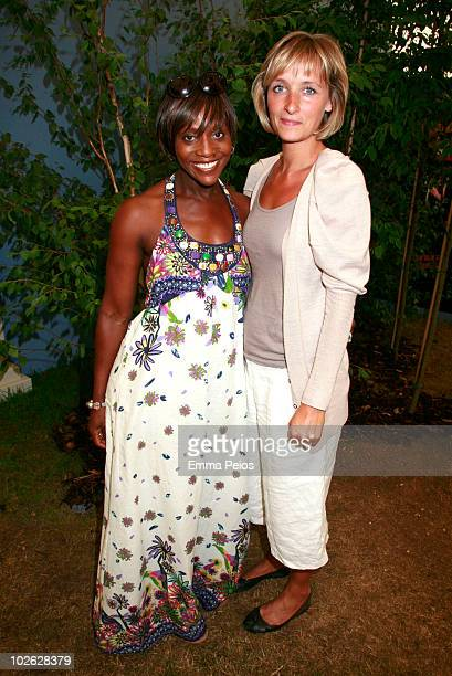 Brenda Emmanus and Louisa Preston attend the press preview at the Hampton Court Palace Flower Show at Hampton Court Palace on July 5, 2010 in East...
