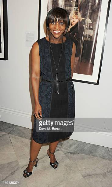 Brenda Emmanus attends a champagne reception introducing the Voice of a Woman Awards featuring a private viewing of the Cultural Olympiad's 'Road To...