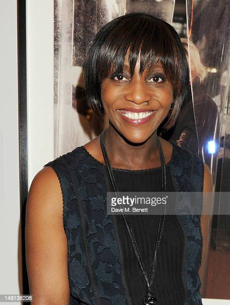 Brenda Emmanus attends a champagne reception introducing the Voice of a Woman Awards, featuring a private viewing of the Cultural Olympiad's 'Road To...
