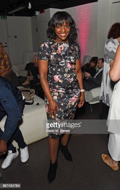 Brenda Emmanus attends a live sculpting of Dame Joan Collins with artist Frances Segelman in support of Penny Brohn UK Charity at the London Film...