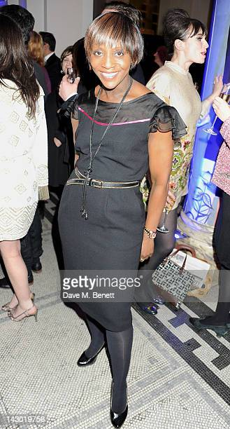 Brenda Emmanus attends Jonathan Shalit's 50th birthday party at The V&A on April 17, 2012 in London, England.