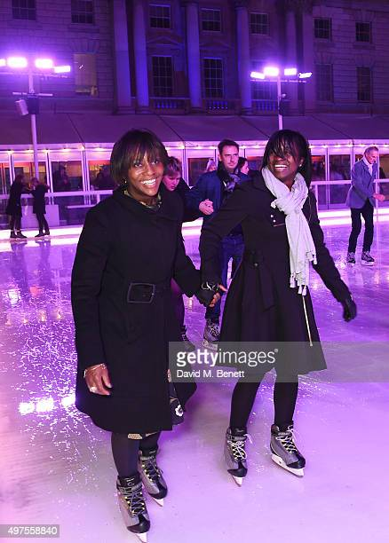 Brenda Emmanus attends the opening party of Skate at Somerset House with Fortnum & Mason at Somerset House on November 17, 2015 in London, England....