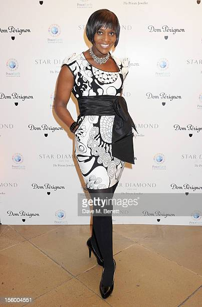Brenda Emmanus attends the Place For Peace dinner co-hosted by Ella Krasner and Forest Whitaker to support the Peace Earth Foundation in association...