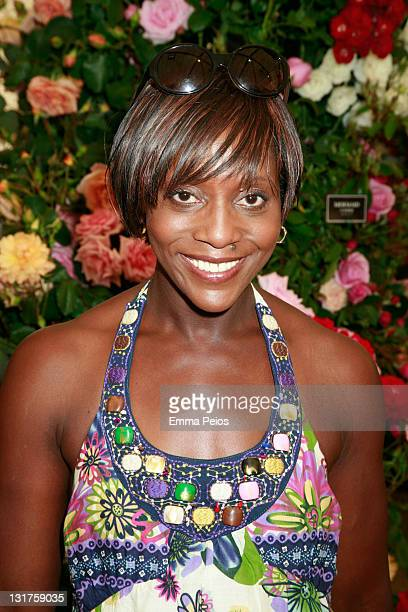 Brenda Emmanus attends the press preview at the Hampton Court Palace Flower Show at Hampton Court Palace on July 5 2010 in East Molesey Surrey...