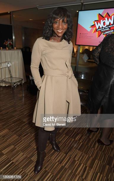 Brenda Emmanus attends the WOW Foundation x Bloomberg reception at Southbank Centre on March 5, 2020 in London, England.