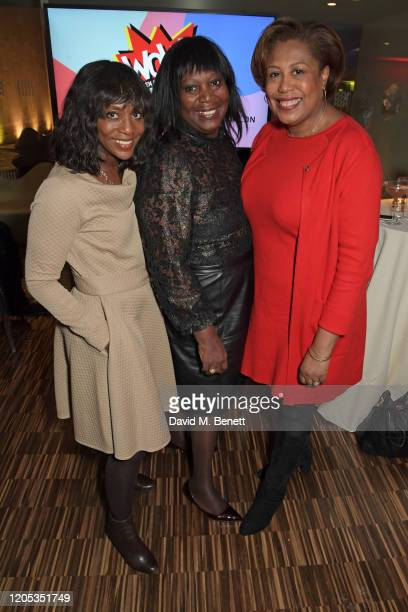 Brenda Emmanus, Heather Melville and Pamela Hutchinson, global head of diversity & inclusion at Bloomberg LP, attend the WOW Foundation x Bloomberg...