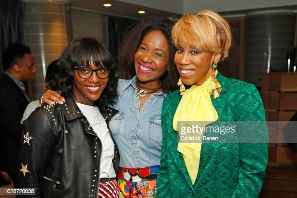 "Brenda Emmanus, Karen Bryson and Trisha Goddard attend an exclusive private book signing with supermodel & MBE Eunice Olumide for her new book ""How..."