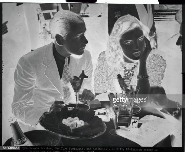 Brenda Frazier New York socialite has cocktails with Billy Livingston before he leaves for the army Photo early 1940s