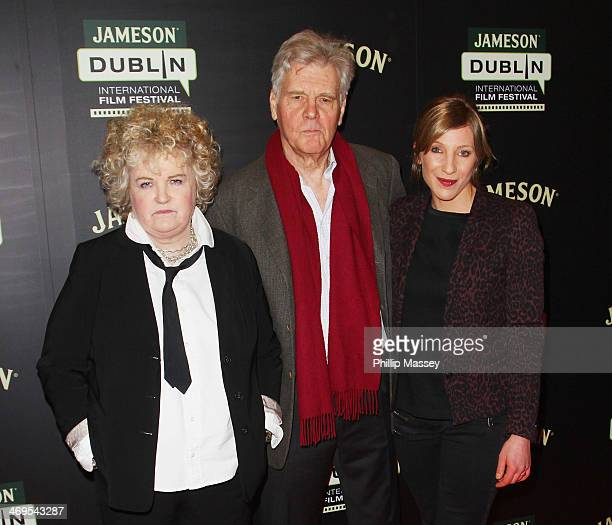Brenda Fricker James Fox and Virginia Gilbert attend a screening of A Long Way From Home at the Jameson Dublin International Film Festival at Savoy...