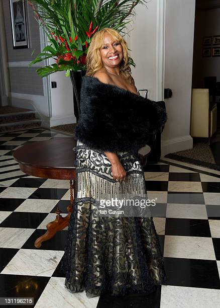 Brenda Holloway arrive at the afterparty of 'Michael Jackson The Life Of An Icon' at the Connaught Rooms on November 2 2011 in London England