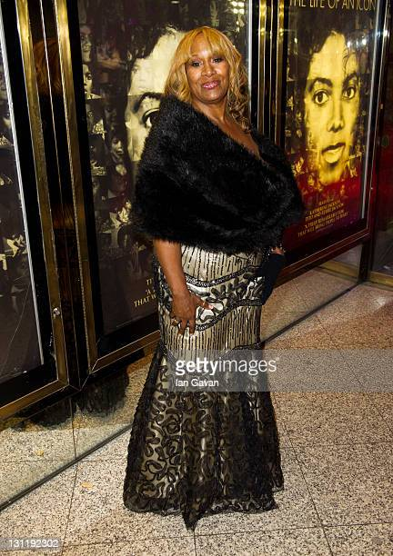 Brenda Holloway attends the world premiere of 'Michael Jackson The Life Of An Icon' at The Empire Cinema on November 2 2011 in London England