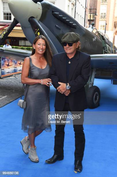 Brenda Johnson and Brian Johnson attend the World Premiere of Spitfire at The Curzon Mayfair on July 9 2018 in London England