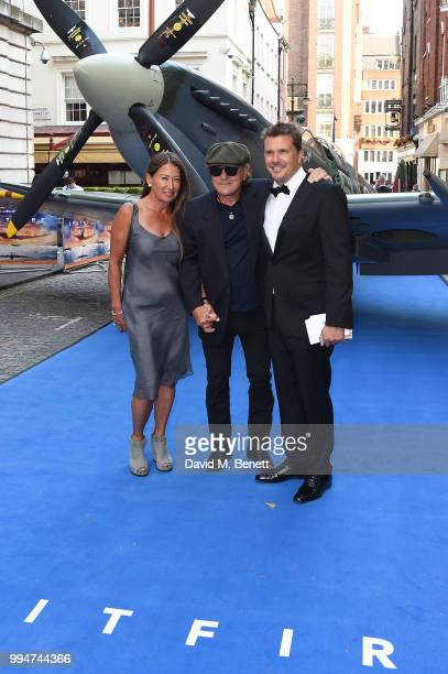 Brenda Johnson Brian Johnson and guest attend the World Premiere of Spitfire at The Curzon Mayfair on July 9 2018 in London England