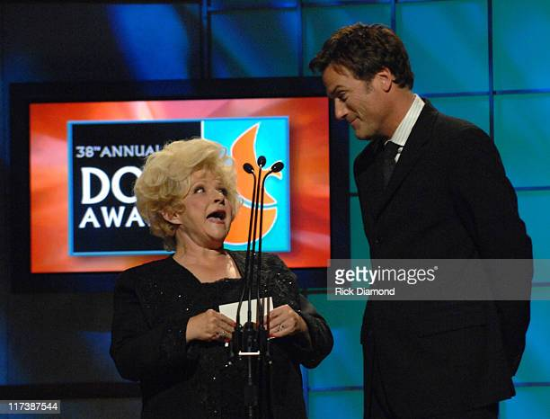 Brenda Lee and Michael W. Smith during 38th Annual GMA DOVE Awards - Show at Grand Old Opry in Nashville, Tennessee, United States.