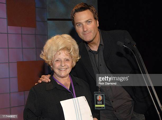 Brenda Lee and Michael W Smith during 38th Annual GMA DOVE Awards Backstage at Grand Old Opry in Nashville Tennessee United States