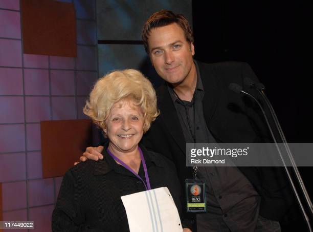 Brenda Lee and Michael W. Smith during 38th Annual GMA DOVE Awards - Backstage at Grand Old Opry in Nashville, Tennessee, United States.