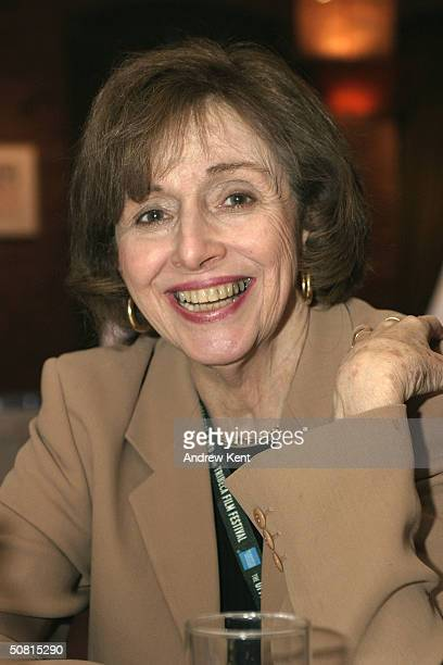 Brenda Maddox poses at the Unraveling The Code Rosalind Franklin and DNA panel during the 2004 Tribeca Film Festival May 8 2004 in New York City