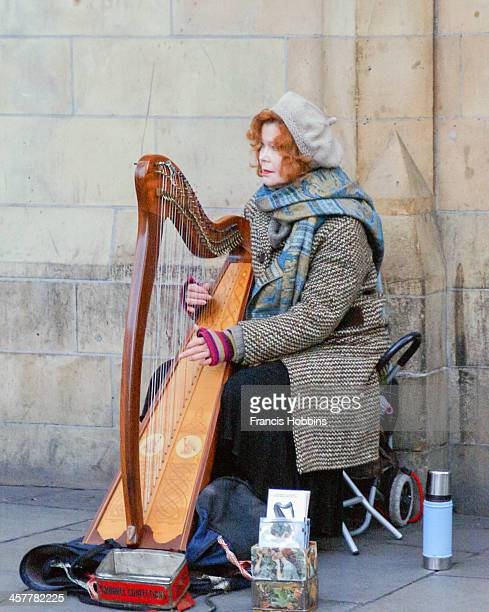 Brenda Malloy, musician from Ireland. Photo was taken in Dublin near the museums. A release might be possible since I have been in contact with her...