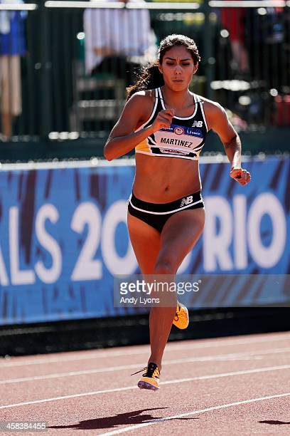 Brenda Martinez runs in the first round of the Women's 800 Meters during the 2016 US Olympic Track Field Team Trials at Hayward Field on July 1 2016...