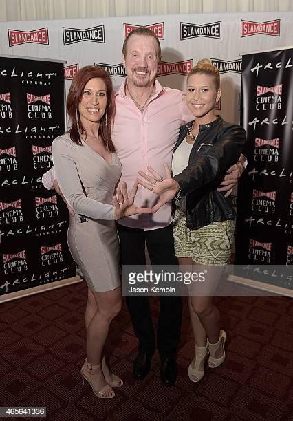 Brenda Nair wrestler Diamond Dallas Page and Lexy Nair attend the Slamdance Cinema Club screening of 'Resurrection Of Jake The Snake' at ArcLight...