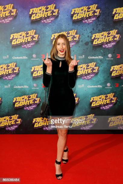 Brenda Patea attends the 'Fack ju Goehte 3' premiere at Mathaeser Filmpalast on October 22 2017 in Munich Germany