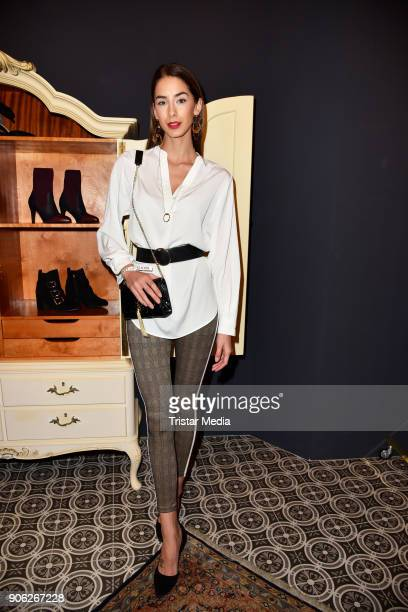 Brenda Patea during the Marcel Ostertag Fashion Presentation on January 17 2018 in Berlin Germany