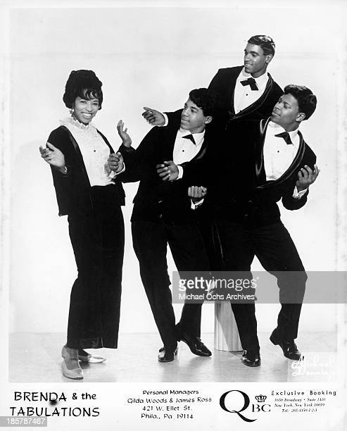 Brenda Payton Eddie L Jackson Maurice Coates Jerry Jones of the Northern soul group 'Brenda And The Tabulations pose for a portrait in circa 1967 in...