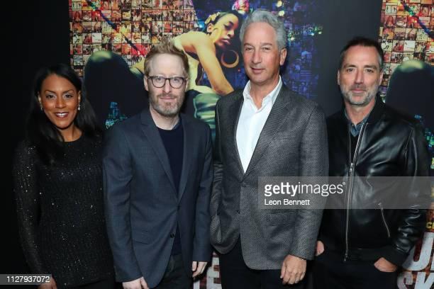 Brenda Robinson Josh Alexander Jeffrey Soros and Simon Horsman attend Los Angeles Premiere Of HBO's Documentary Film 'United Skates' Arrivals at...