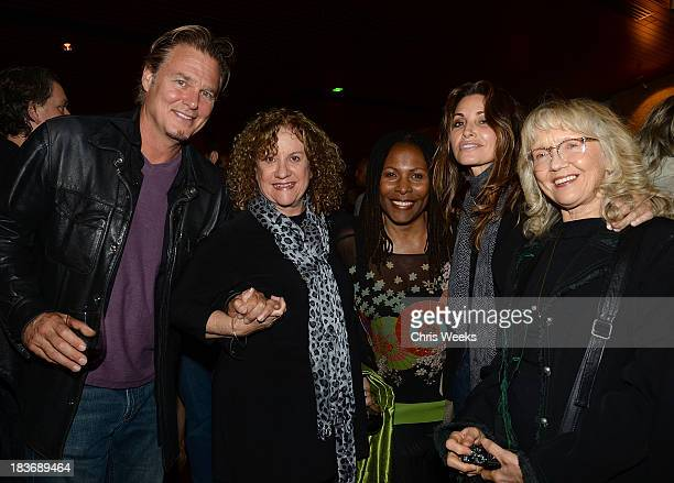 Brenda Russell actress Gina Gerson and guests attend a special screening of Muscle Shoals at the Landmark Theater on October 8 2013 in Los Angeles...