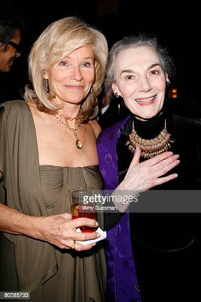 Brenda Siemer Scheider and actress Marain Seldes attend the Stella Adler Studio fourth annual Stella by Starlight benefit gala at Cipriani 23rd...
