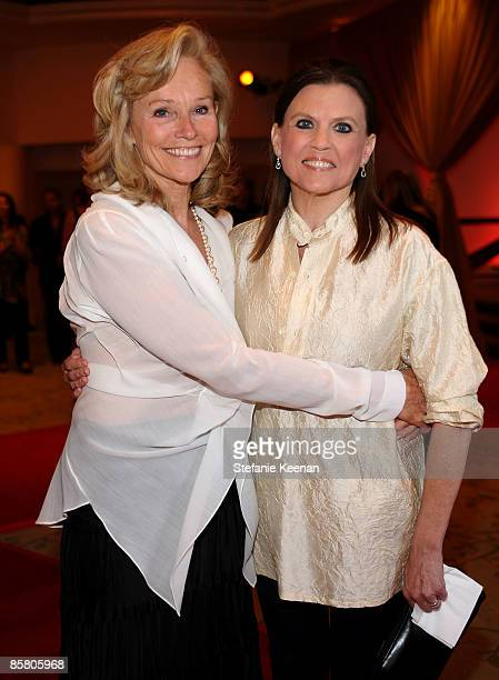 Brenda Siemer-Scheider and actress Ann Reinking attend Smiles from the Stars: A Tribute to the Life and Work of Roy Scheider at The Beverly Hills...