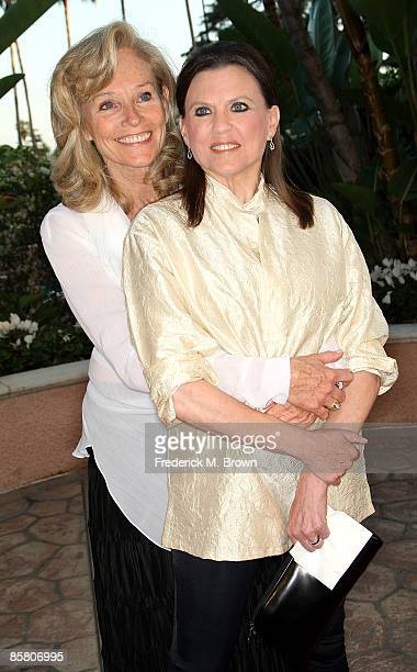 Brenda Siemer-Scheider and actress Ann Reinking attend the Smiles from the Stars: A Tribute to the Life and Work of actor Roy Scheider at the Beverly...
