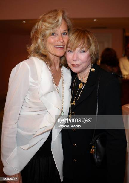 Brenda Siemer-Scheider and actress Shirley MacLaine attend Smiles from the Stars: A Tribute to the Life and Work of Roy Scheider at The Beverly Hills...