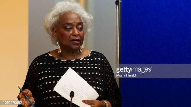 Brenda Snipes, former Broward Elections Supervisor, at its offices in Lauderhill, Florida, speaks while the supervisory board reviews the ballots...