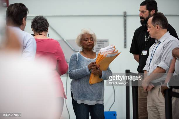 Brenda Snipes, Supervisor of Elections seen leading the hand recount for the senator, in Broward County, Florida.