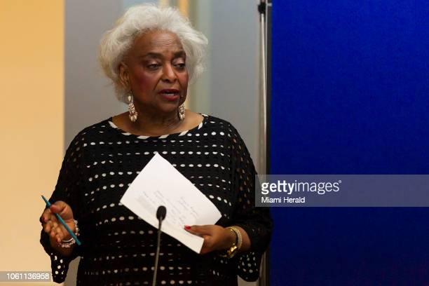 Brenda Snipes, supervisora de Elecciones del Condado Broward, en sus oficinas en Lauderhill, Florida, el domingo pasado.