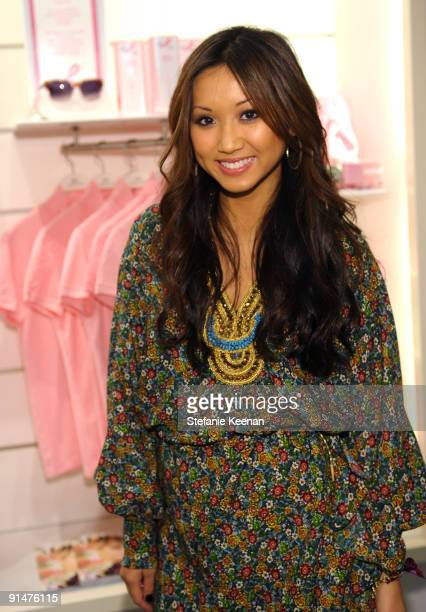 Brenda Song attends the launch of the 2009 Pink Croc Collection to benefit the Breast Cancer Research Foundation held at the Lacoste Boutique on...