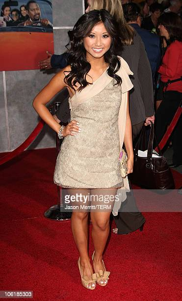 Brenda Song attends the premiere of Walt Disney Pictures' 'College Road Trip' at the El Capitan Theatre on March 3 2008 in Hollywood California