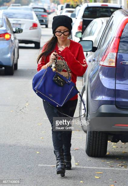 Brenda Song is seen as she runs errands on December 18 2013 in Los Angeles California