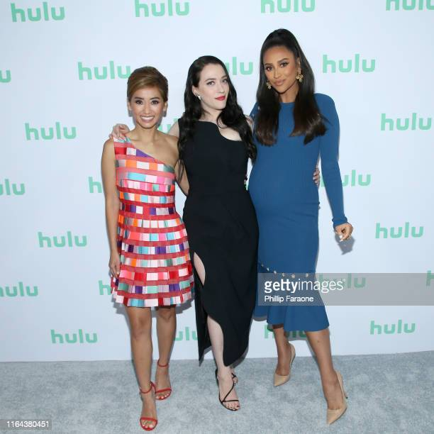 Brenda Song Kat Dennings and Shay Mitchell attend the Hulu 2019 Summer TCA Press Tour at The Beverly Hilton Hotel on July 26 2019 in Beverly Hills...