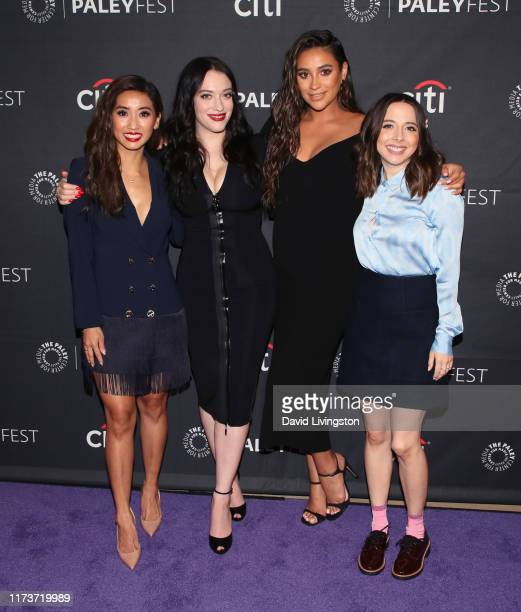 Brenda Song Kat Dennings Shay Mitchell and Esther Povitsky of 'Dollface attend The Paley Center for Media's 2019 PaleyFest Fall TV Previews Hulu at...