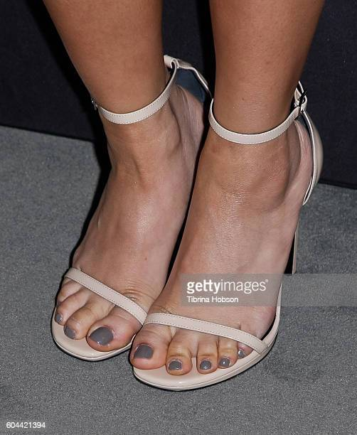 Brenda Song shoe detail attends The Paley Center for Media's PaleyFest 2016 fall TV preview for CBS at The Paley Center for Media on September 12...