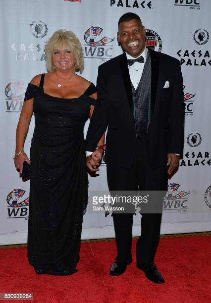 Brenda Spinks and her husband former boxer and inductee Michael Spinks arrive at the fifth annual Nevada Boxing Hall of Fame induction gala at...