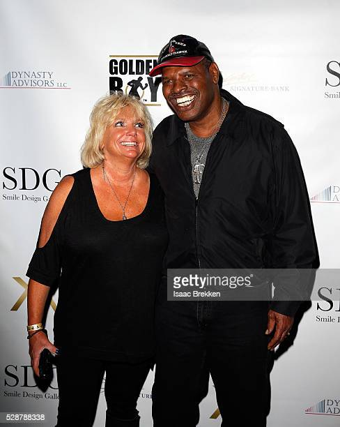 Brenda Spinks and Leon Spinks arrive at Smile Design Gallery's The Art of Boxing event at Hakkasan Las Vegas Restaurant and Nightclub at MGM Grand...