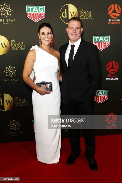 Brenda Stajcic and Alen Stajcic arrive ahead of the FFA Dolan Warren Awards at The Star on April 30 2018 in Sydney Australia