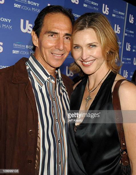 Brenda Strong and guest during US Weekly's Hot Hollywood Fresh 15 Red Carpet and Arrivals at Area in West Hollywood California United States