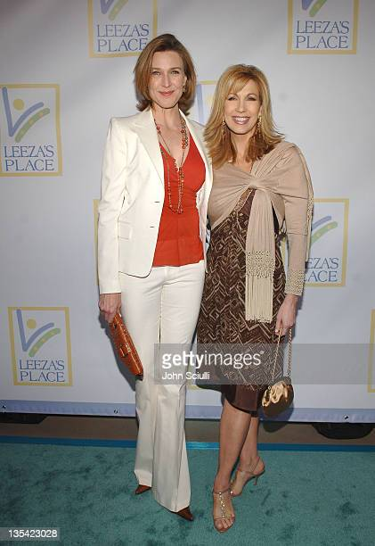 Brenda Strong and Leeza Gibbons during Grand Opening Of The Assistance League Leeza's Place In Hollywood in Los Angeles CA United States